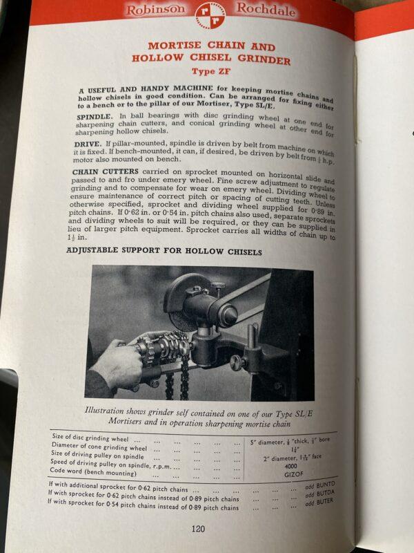 Robinson SL/E Chain and chisel mortiser